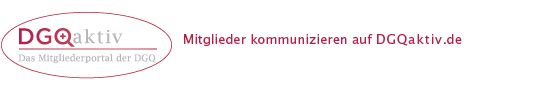 DGQ Aktiv- Mitglieder kommunizieren auf dgqaktiv.de